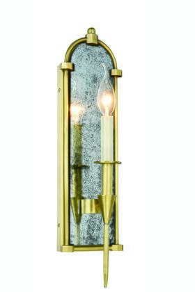 1491W5BB Bavaria Collection Wall Sconce W:5 H:19 E:5 Lt:1 Burnished Brass