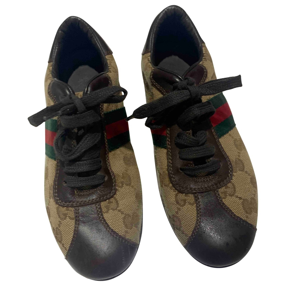 Gucci \N Brown Cloth Trainers for Kids 32 EU