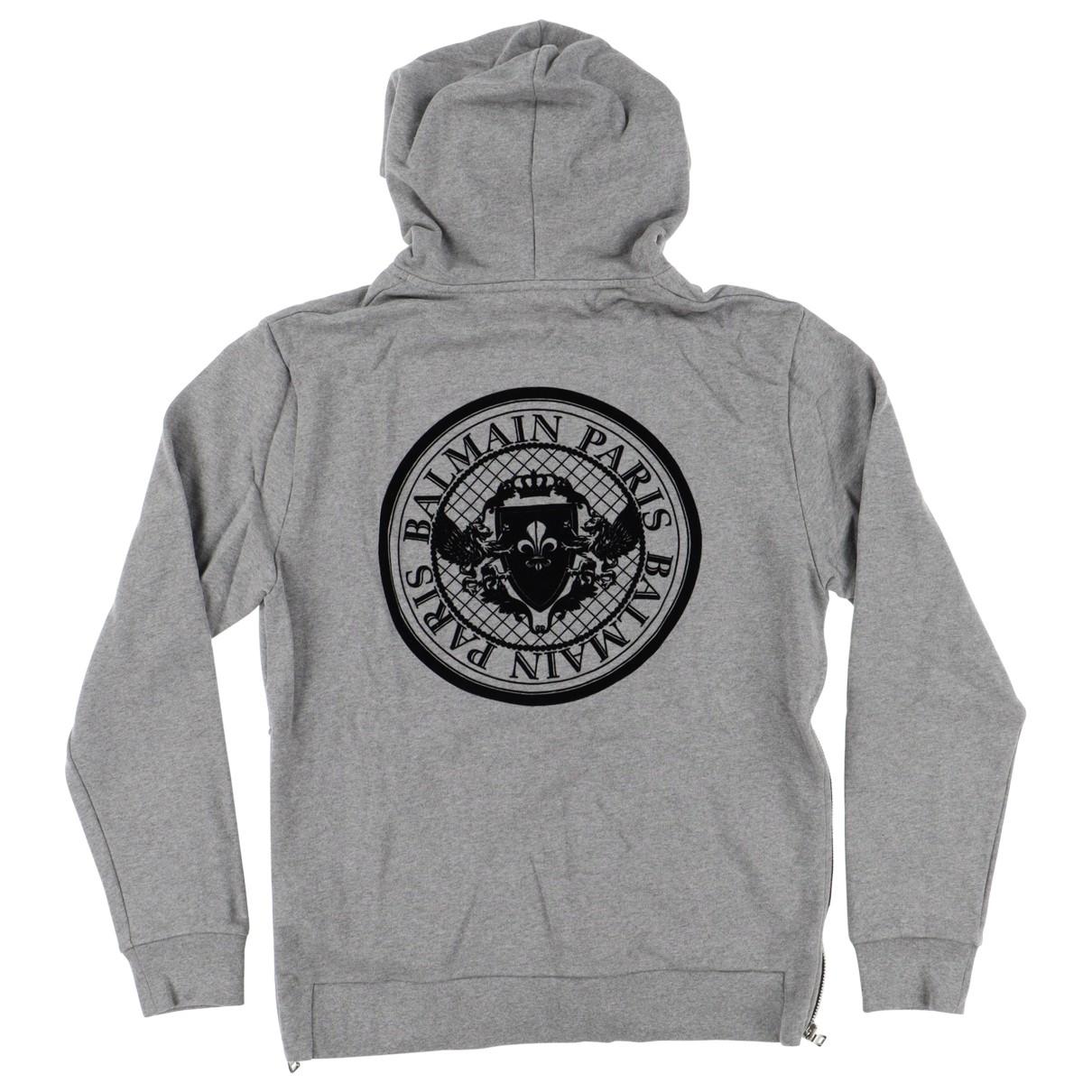 Balmain \N Pullover.Westen.Sweatshirts  in  Grau Baumwolle