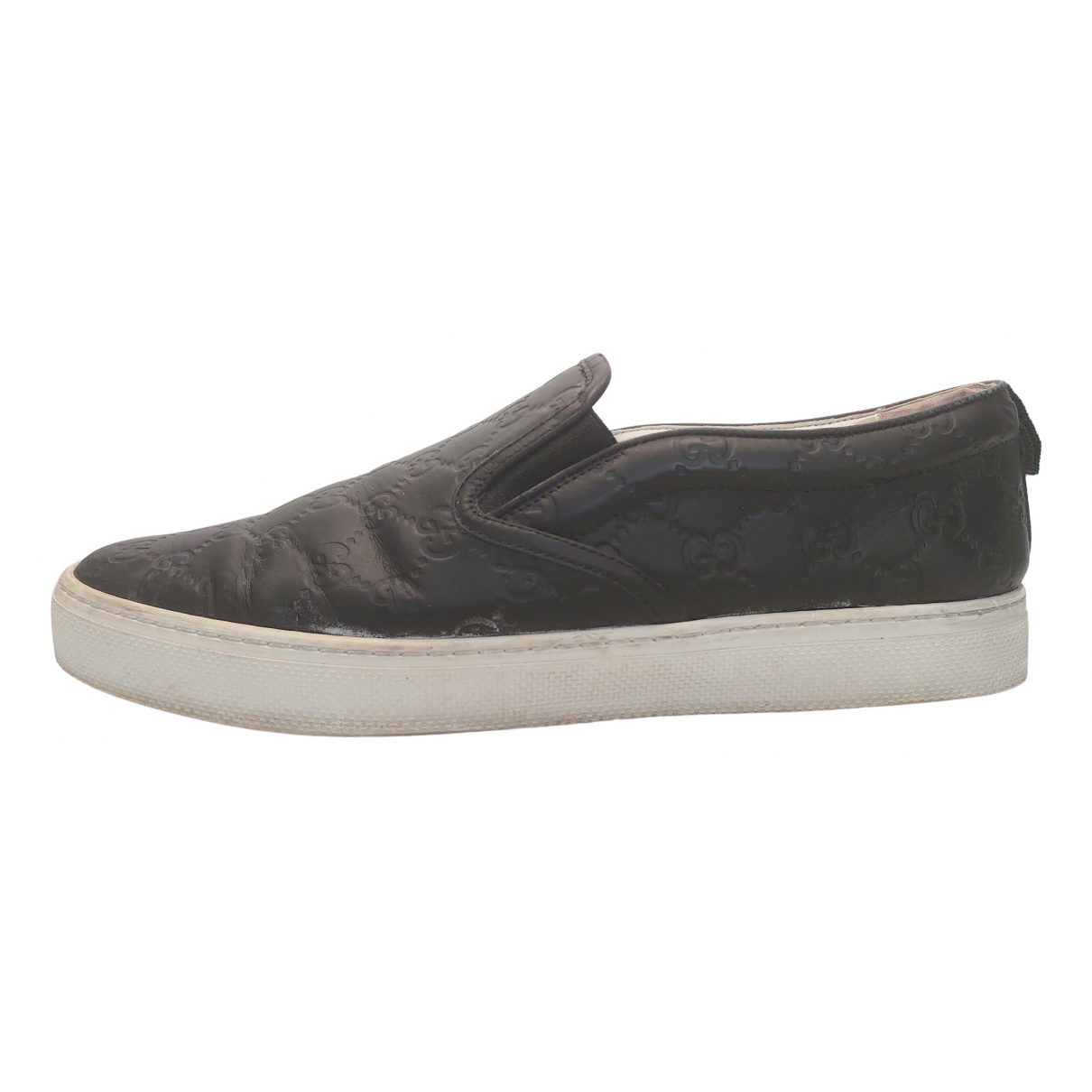 Gucci \N Black Leather Trainers for Men 11 UK