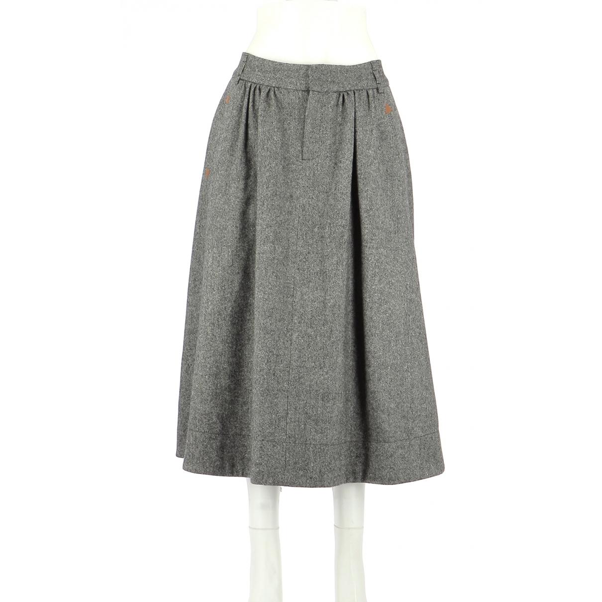 Comptoir Des Cotonniers \N Grey Wool skirt for Women 42 FR