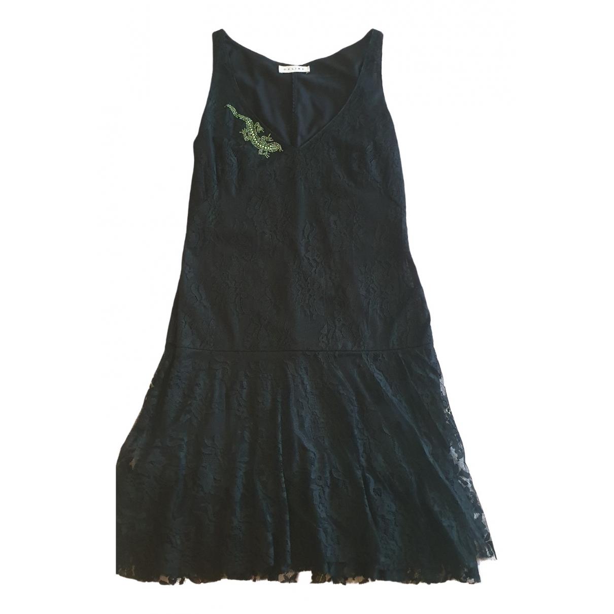 Celine - Robe   pour femme en dentelle - noir