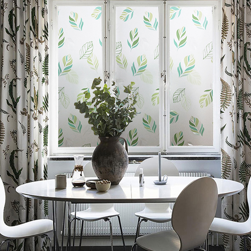 Green Leaves Window Film Static Privacy Protection