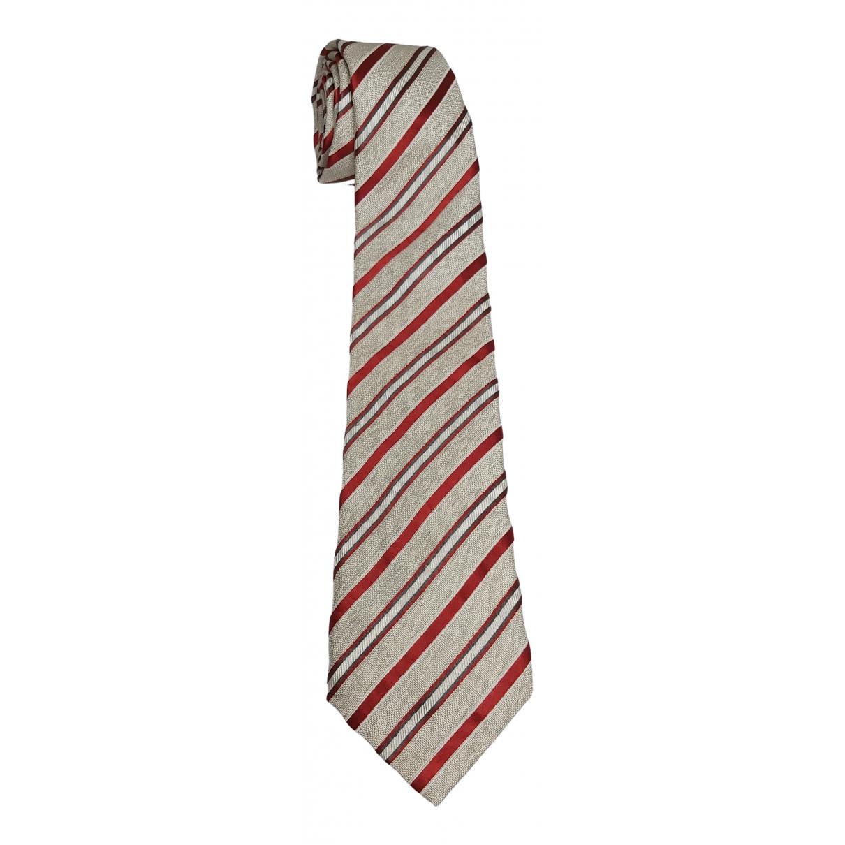 Canali \N Krawatten in  Grau Seide