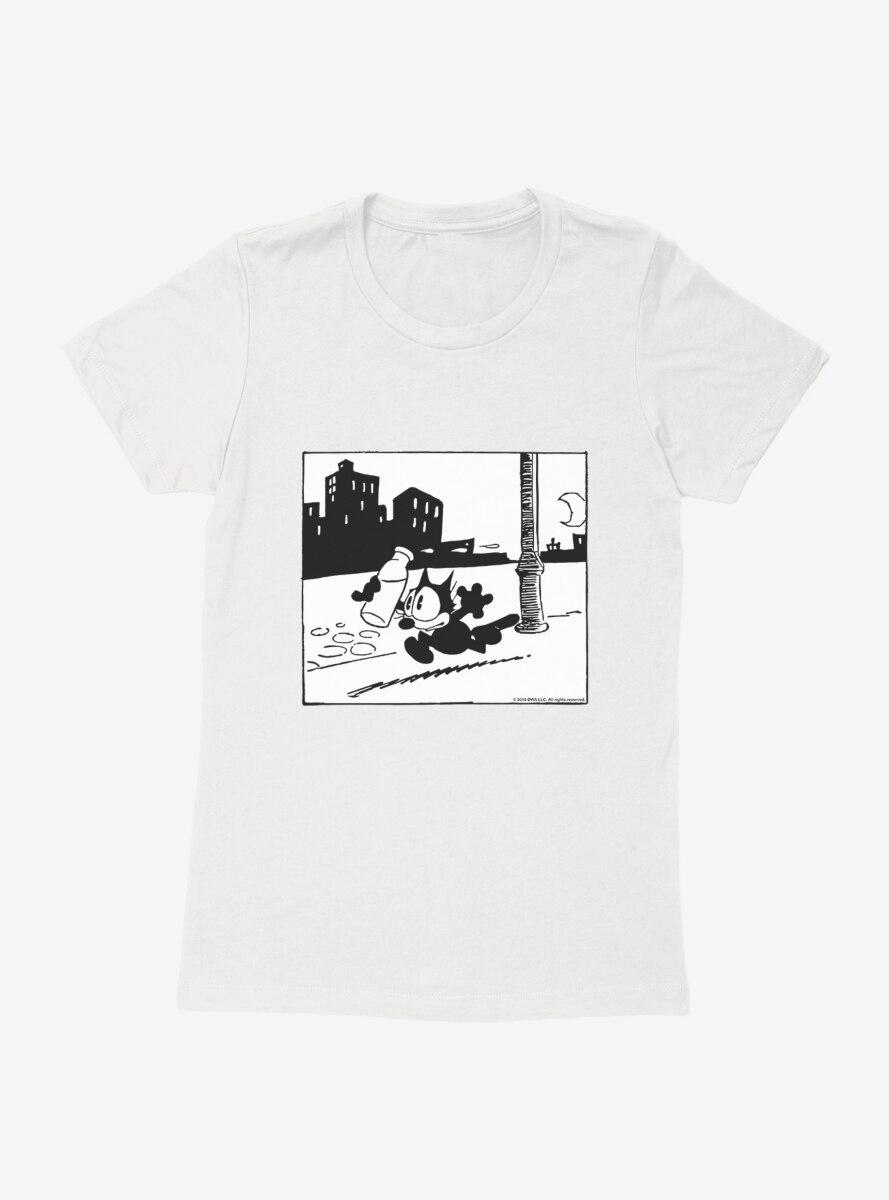 Felix The Cat Got The Milk Womens T-Shirt