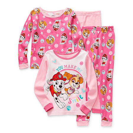 Toddler Girls 4-pc. Paw Patrol Pajama Set, 4t , Pink