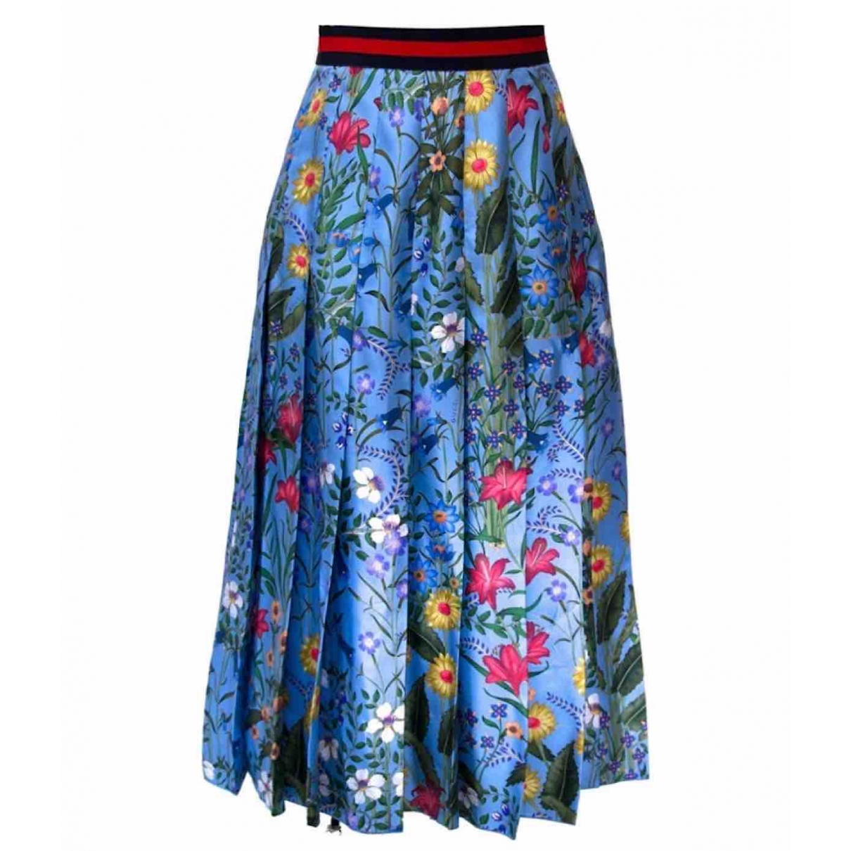 Gucci - Jupe   pour femme en soie - bleu