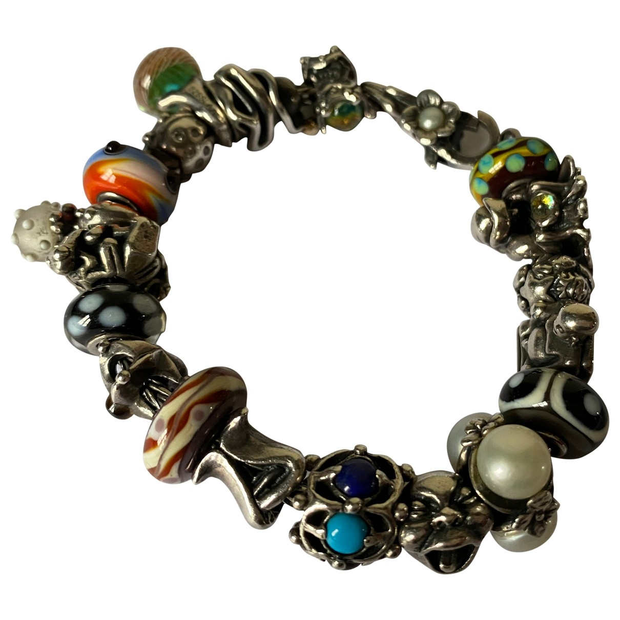 Non Signe / Unsigned \N Armband in  Bunt Silber