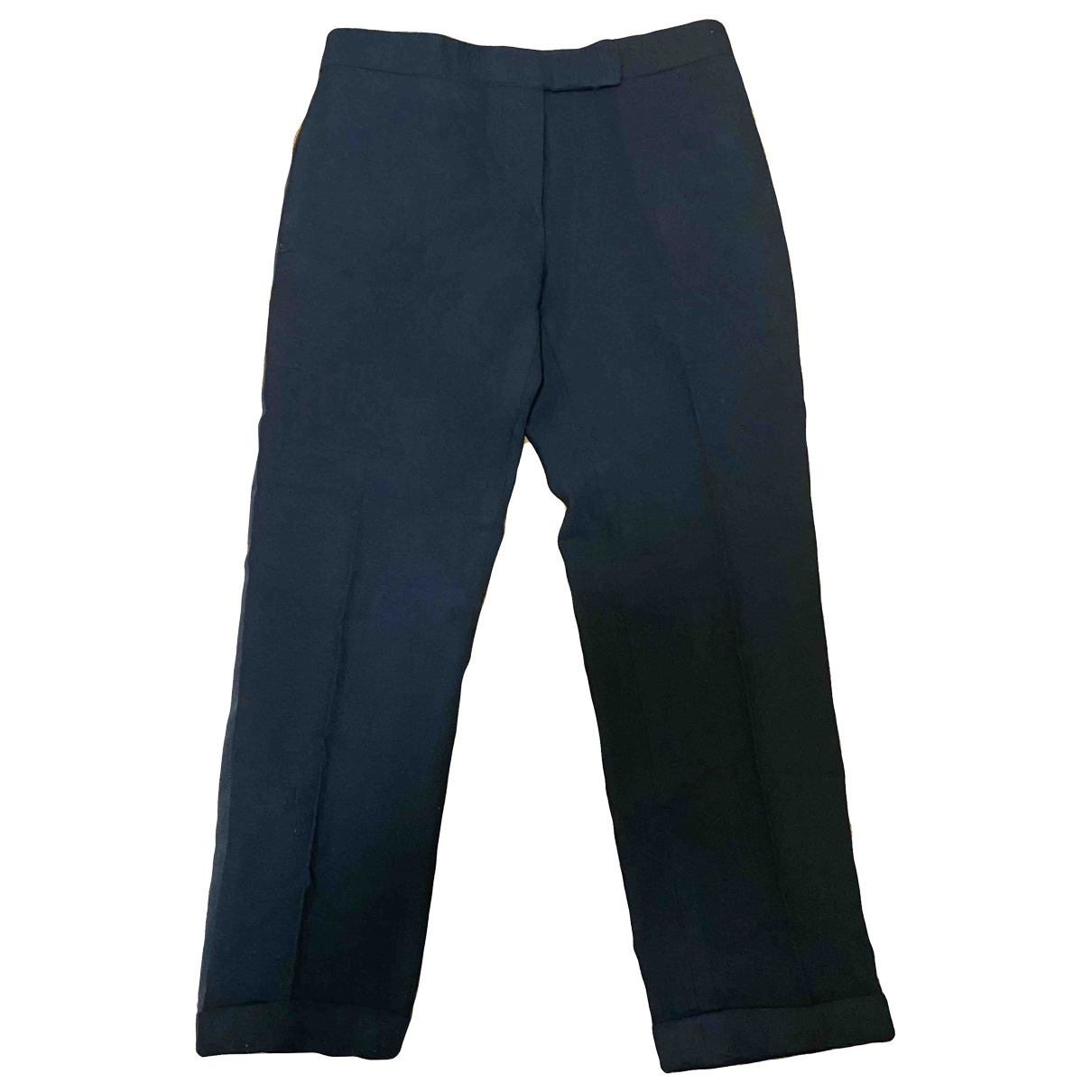 Thom Browne \N Black Wool Trousers for Women 40 IT