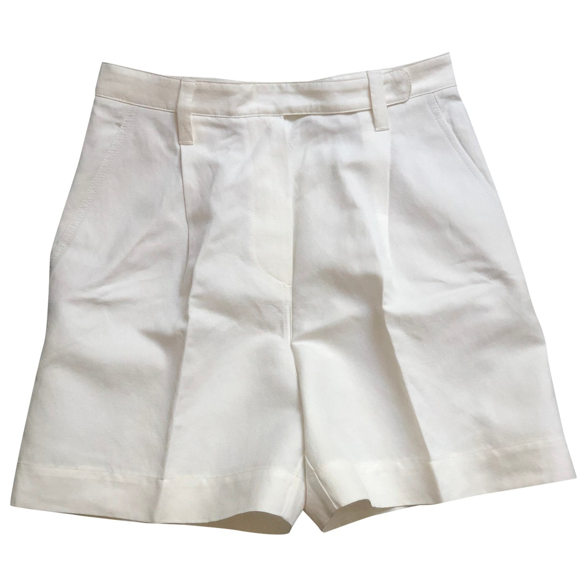 Brunello Cucinelli \N White Cotton Shorts for Women 38 IT