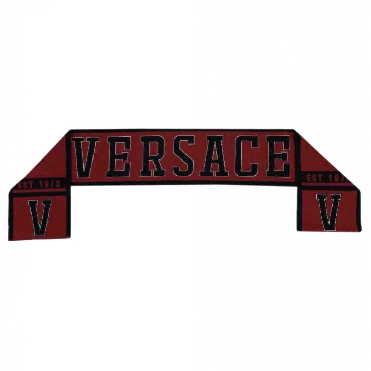 Versace \N Tuecher, Schal in  Rot Wolle