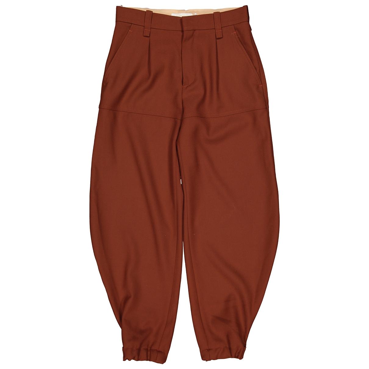 Chloé \N Brown Wool Trousers for Women 36 FR