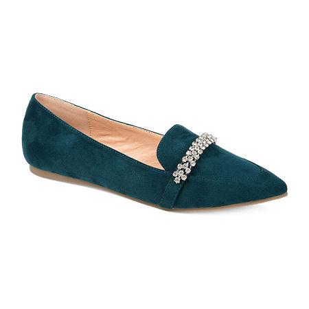 Journee Collection Womens Kyrah Loafers, 6 1/2 Medium, Green