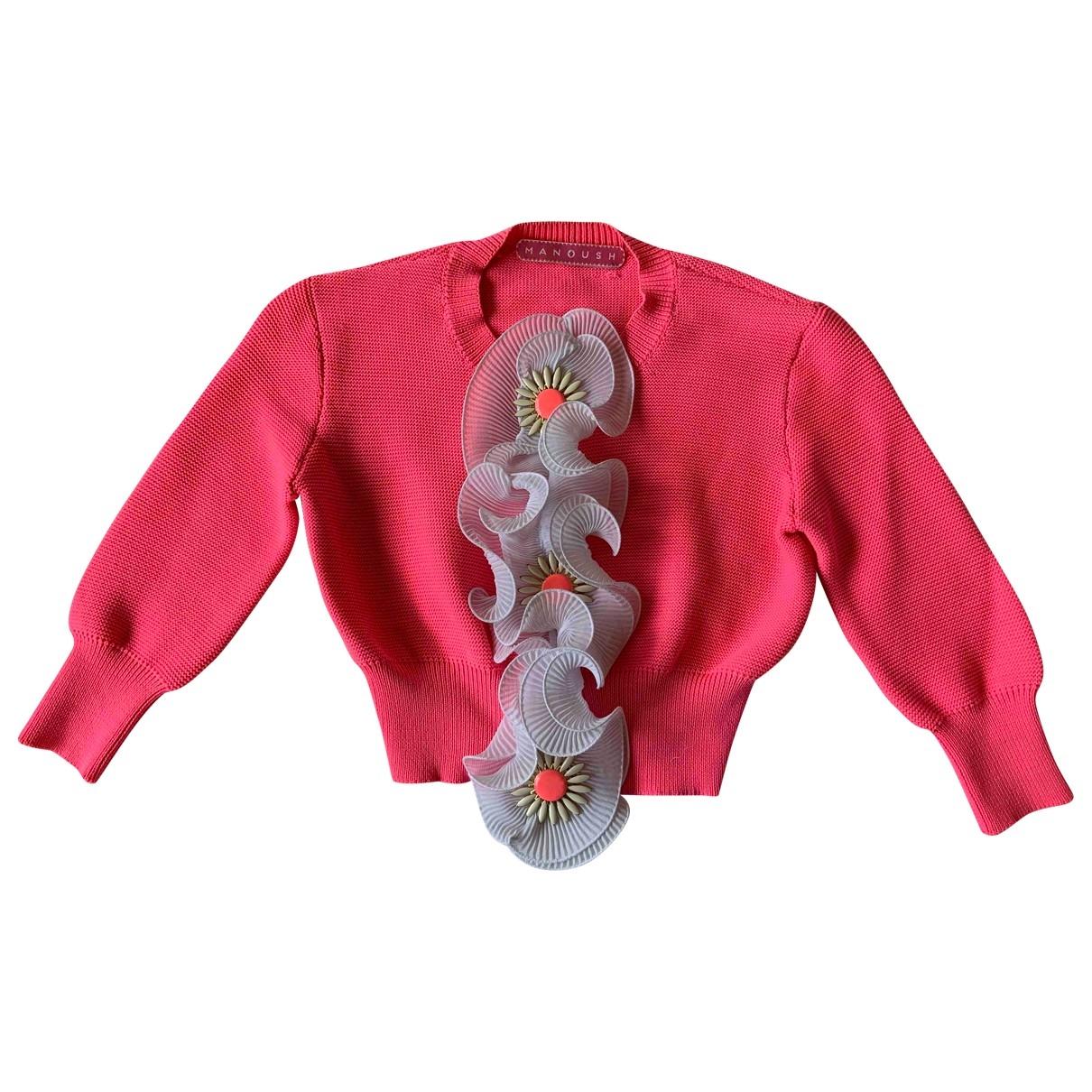 Manoush - Pull   pour femme en coton - rose