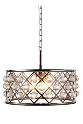 1213D20PN/RC 1213 Madison Collection Pendant Lamp D: 20in H: 9in Lt: 5 Polished Nickel Finish Royal Cut Crystal