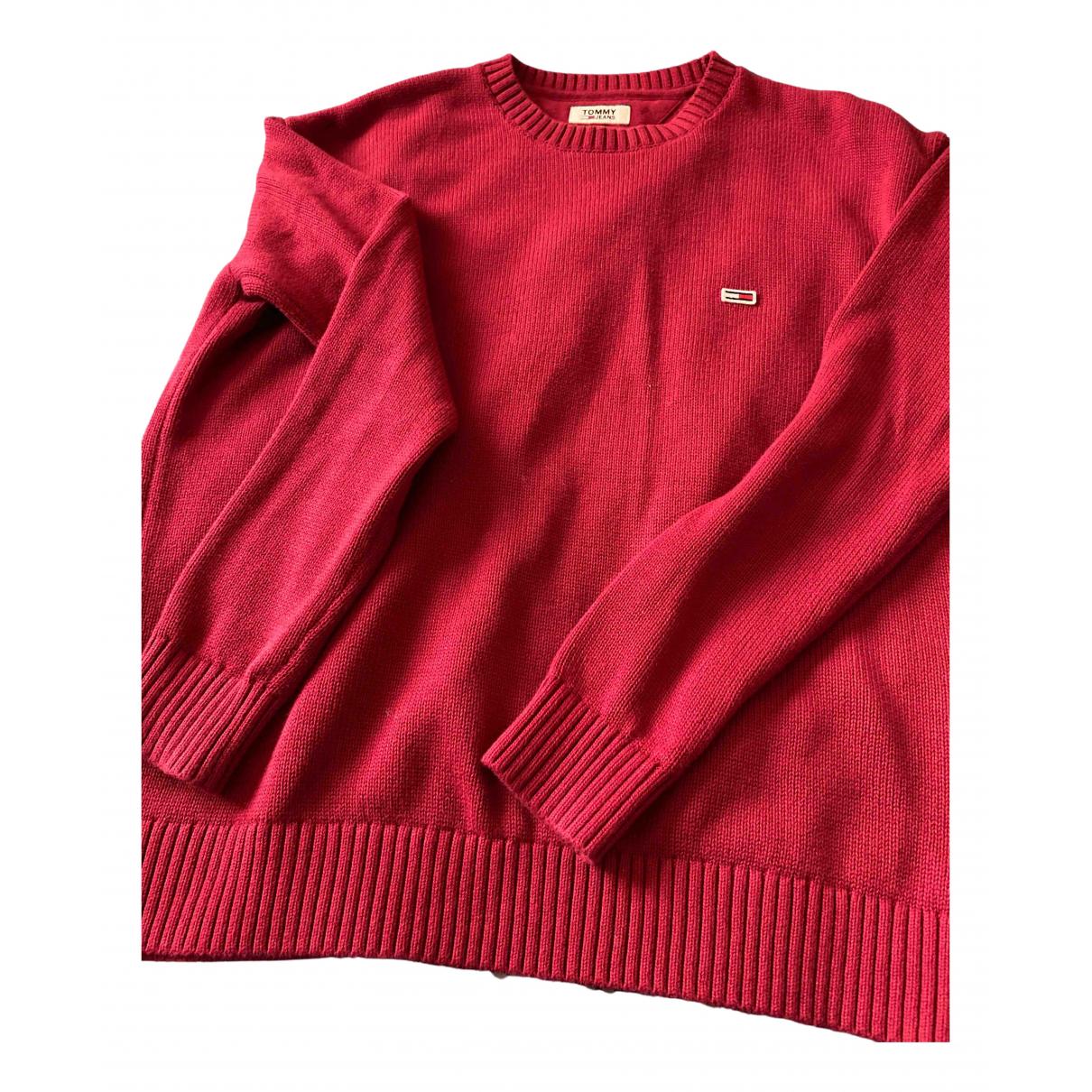 Tommy Hilfiger - Pull   pour femme en laine - bordeaux