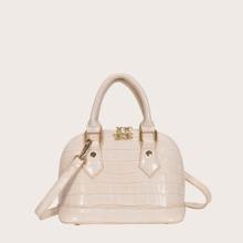 Handtasche mit Stein Praegung
