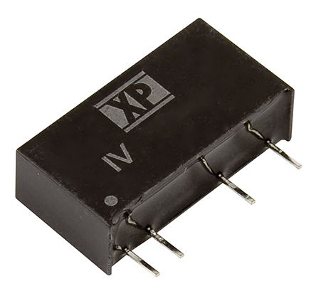 XP Power IV 1W Isolated DC-DC Converter Through Hole, Voltage in 10.8 → 13.2 V dc, Voltage out 15V dc