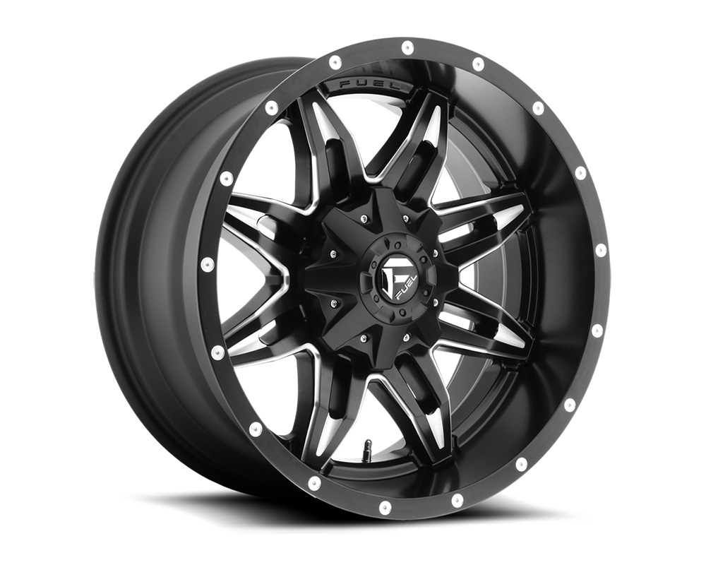 Fuel D567 Lethal Black & Milled 1-Piece Cast Wheel 15x8 6x139.7 -18mm