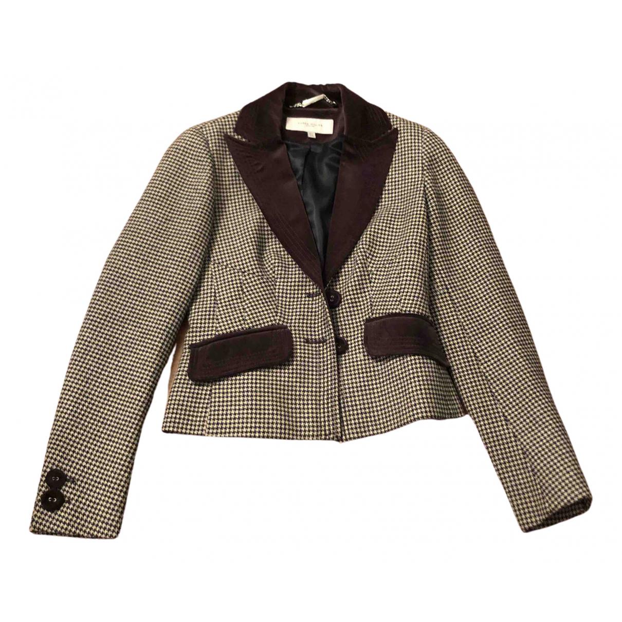 Karen Millen - Veste   pour femme en laine - marron