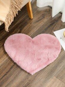 1pc Plush Heart Carpet