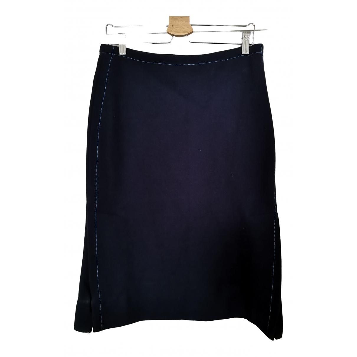 Marni - Jupe   pour femme en laine - bleu
