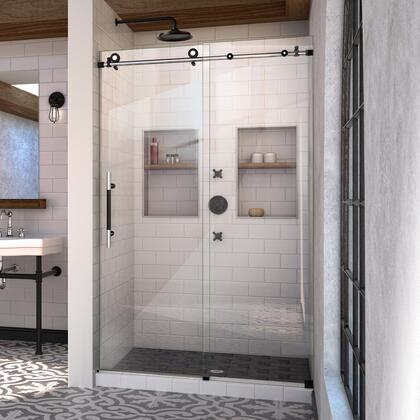 SHDR-61487610-18 Enigma-Xt 44-48 W X 76 H Fully Frameless Sliding Shower Door In Tuxedo