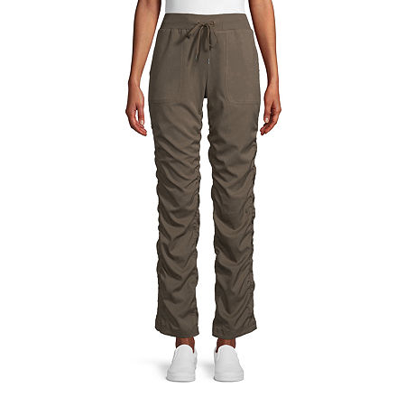 St. John's Bay Womens Mid Rise Straight Pull-On Pants, X-large , Green
