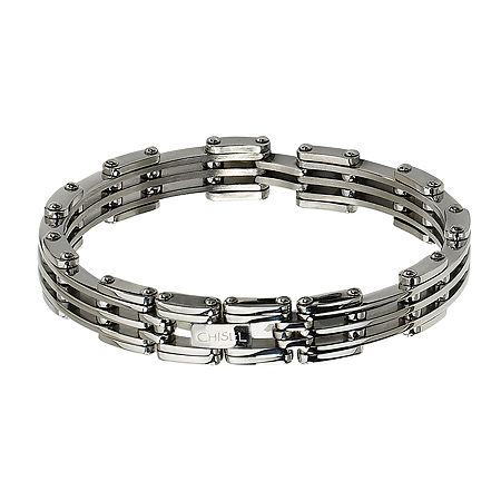 Mens Stainless Steel Link Bracelet, One Size , No Color Family