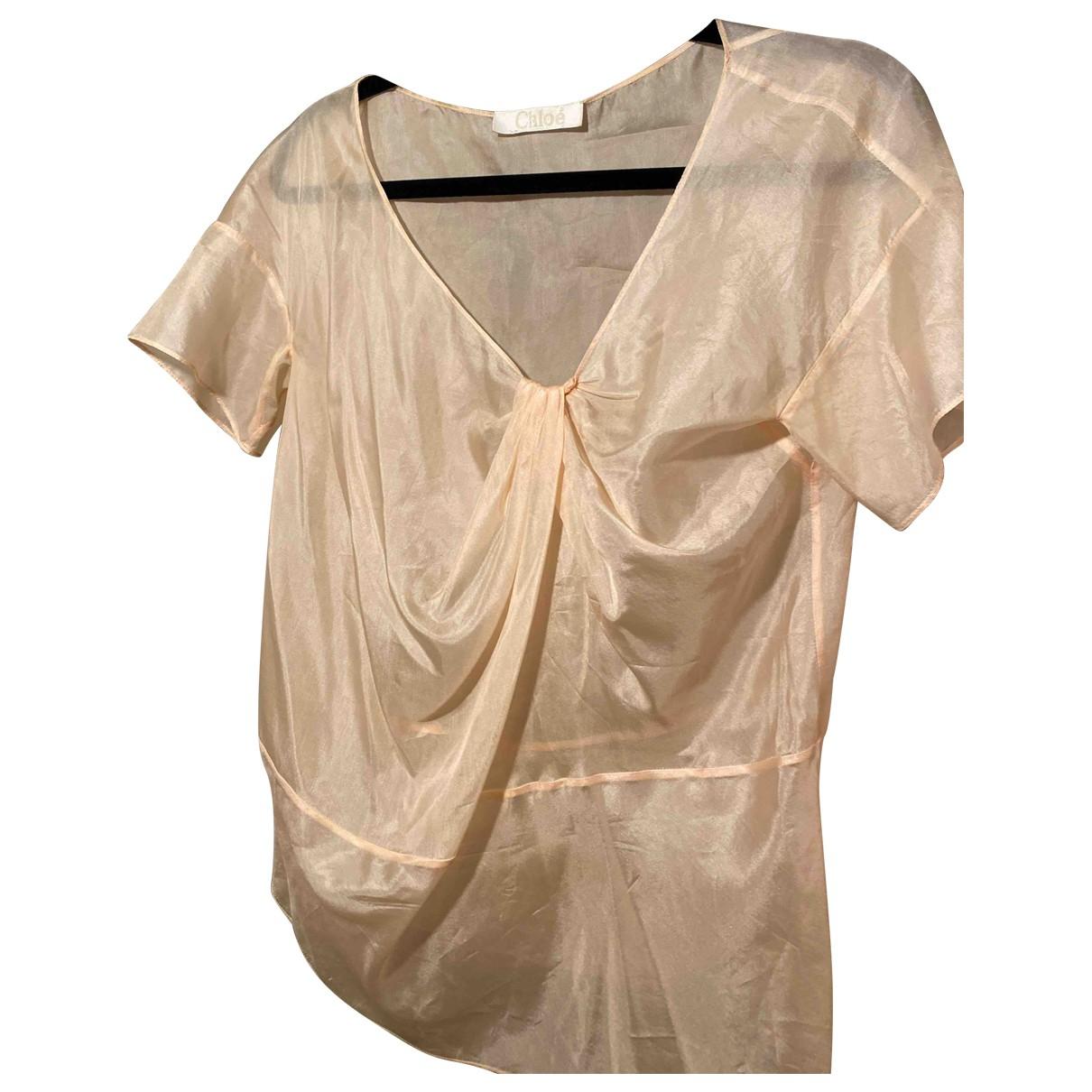 Chloé \N Beige Silk  top for Women 40 IT