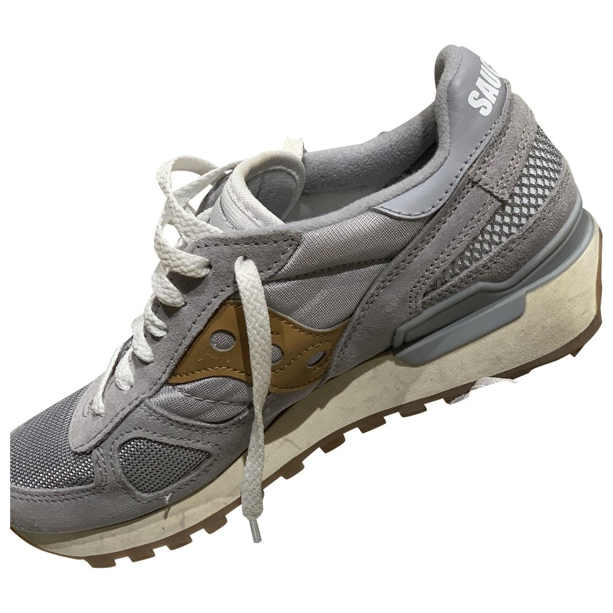 Saucony \N Sneakers in  Grau Leinen