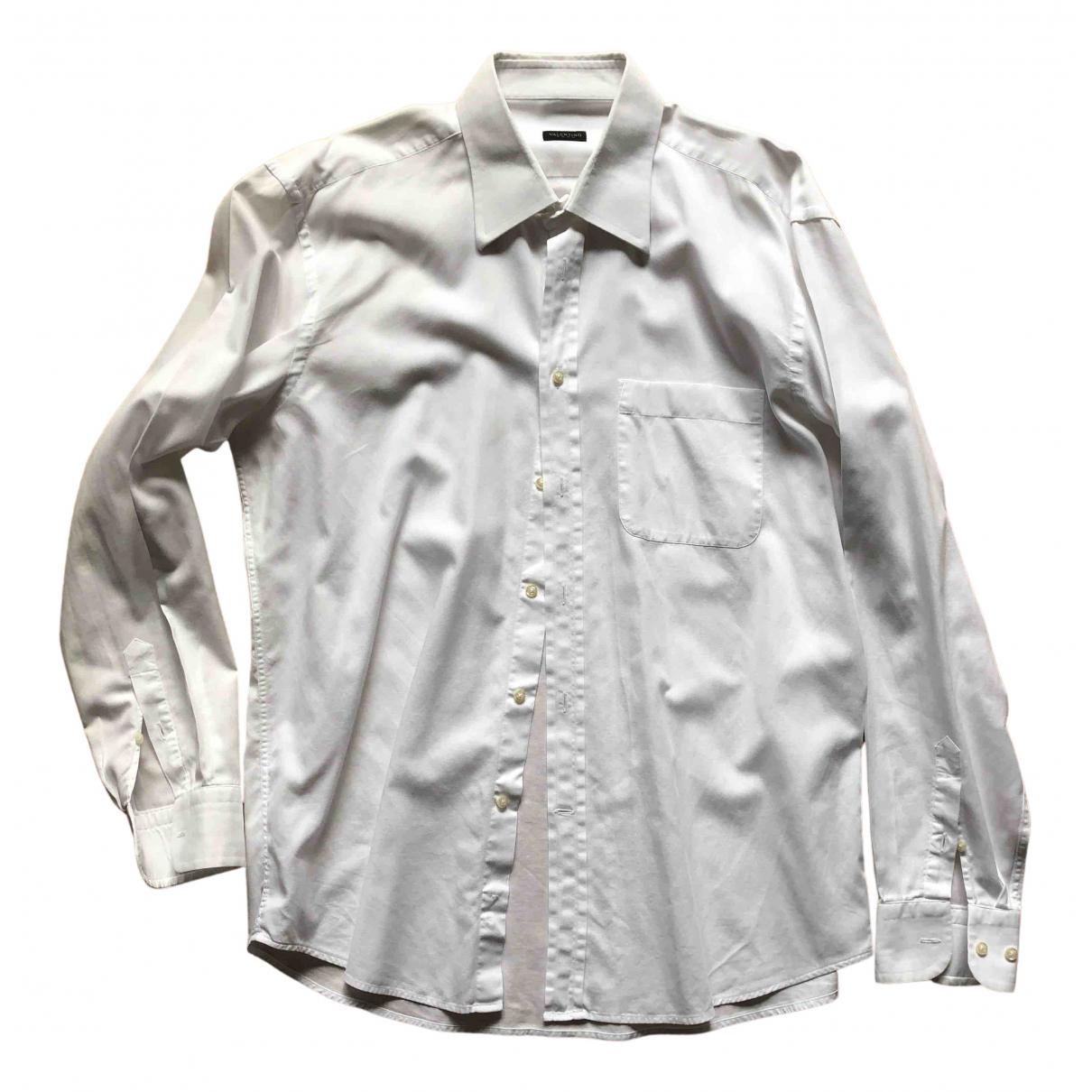 Valentino Garavani N White Cotton Shirts for Men 42 EU (tour de cou / collar)