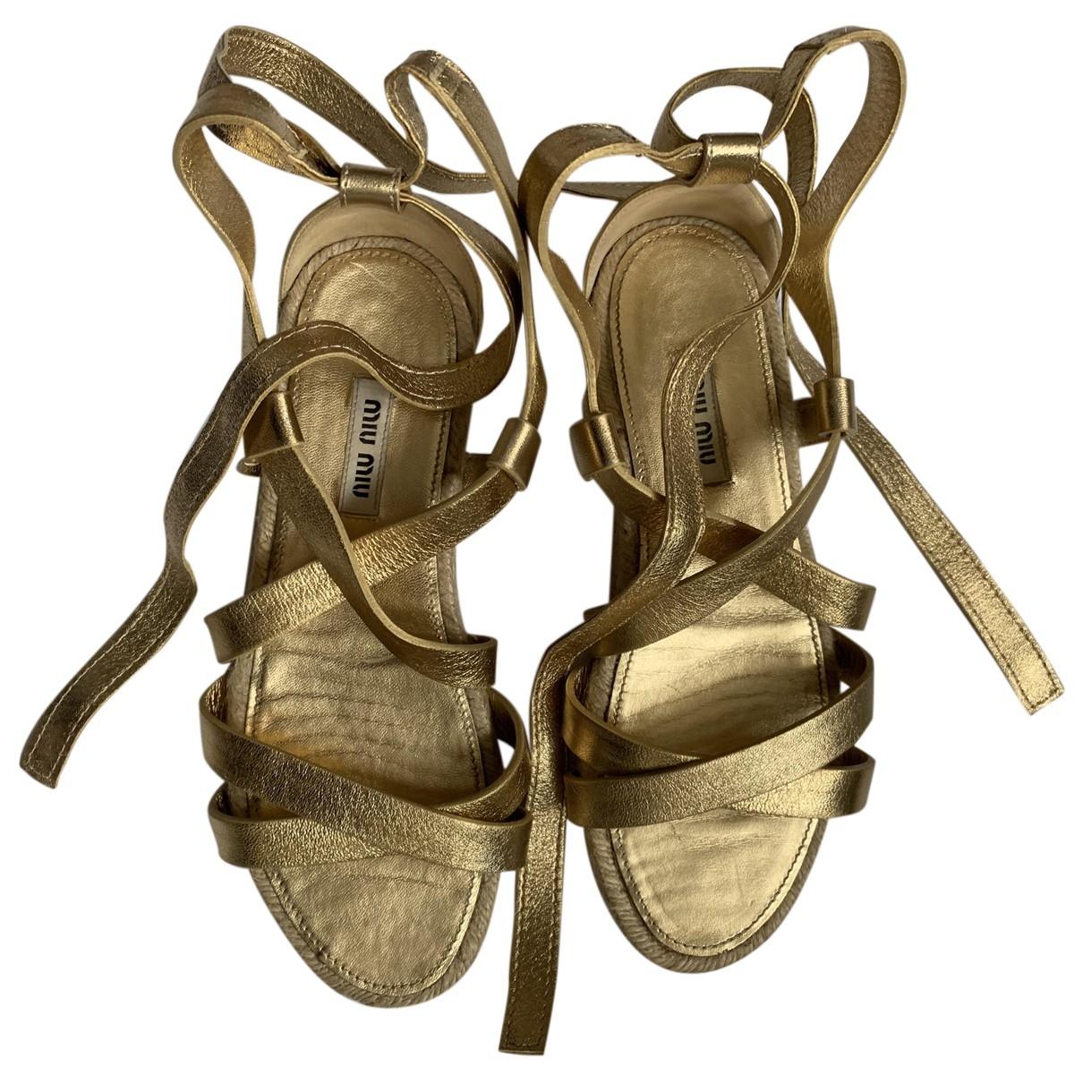 Sandalias romanas de Cuero Miu Miu