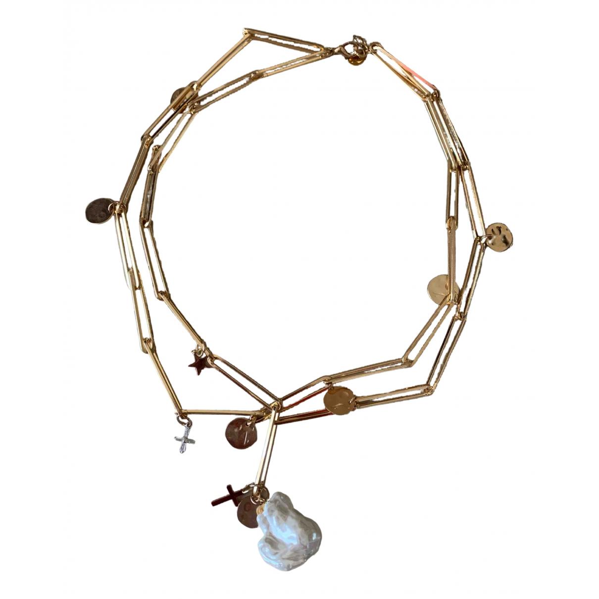 - Collier Motifs Religieux pour femme en perle - dore