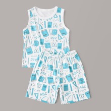 Tank top de niñitos con estampado con shorts