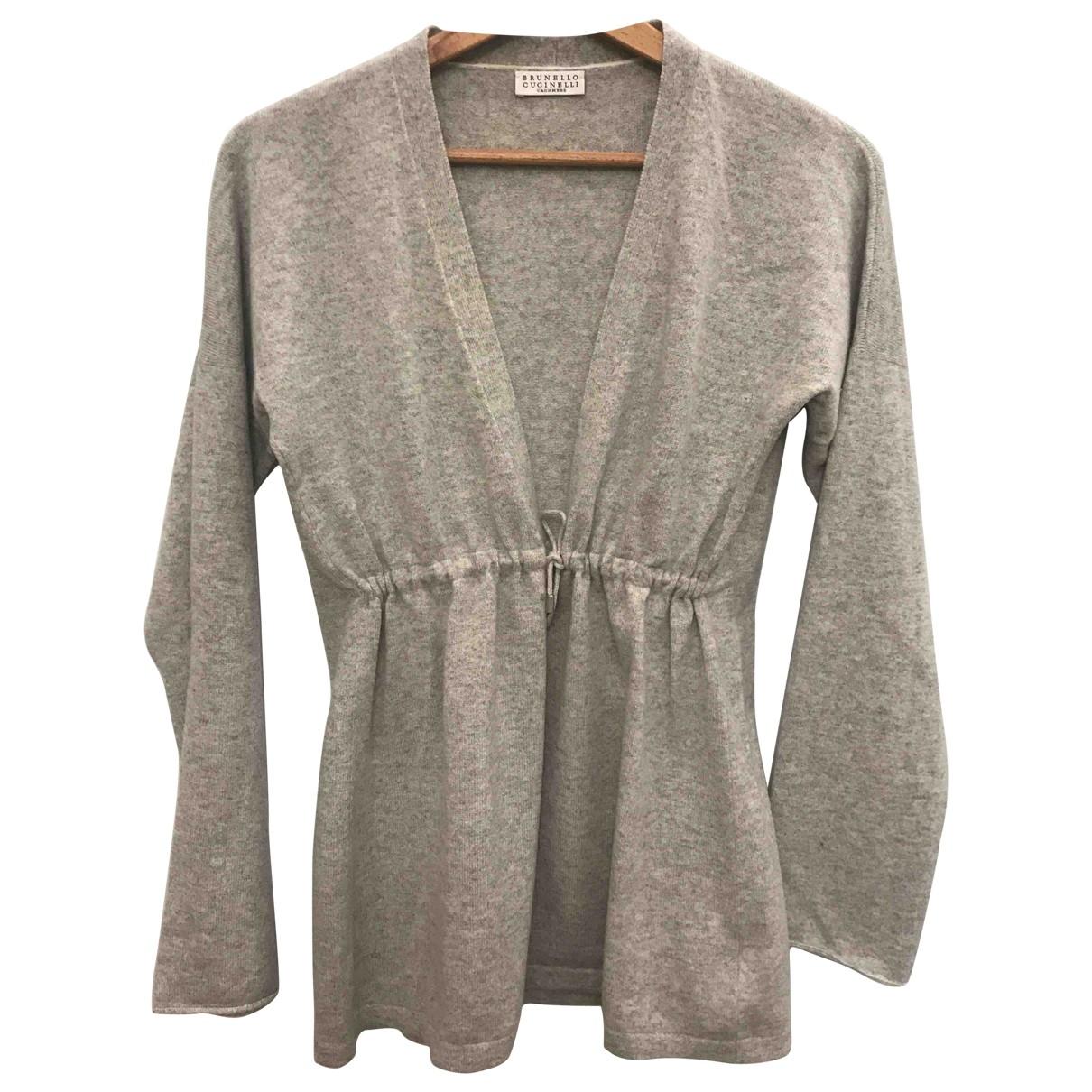 Brunello Cucinelli \N Grey Wool Knitwear for Women M International