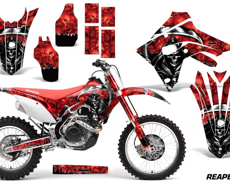 AMR Racing Dirt Bike Graphics Decal Sticker Wrap For Honda CRF450R | CRF450RX 2017+áREAPER RED