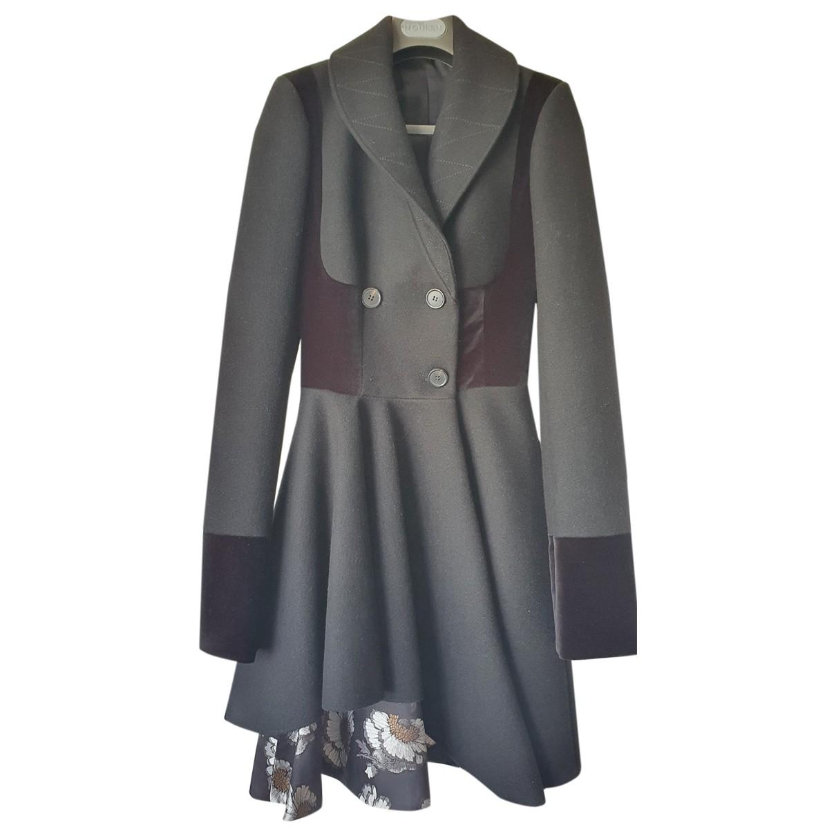 Alexander Mcqueen \N Black Wool coat for Women 38 IT