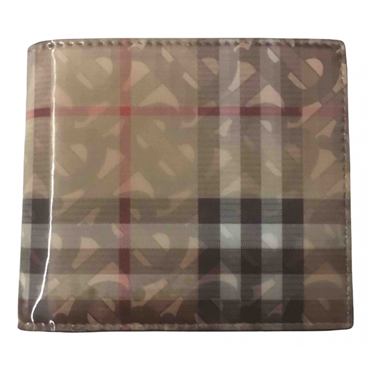 Burberry N Beige Patent leather wallet for Women N