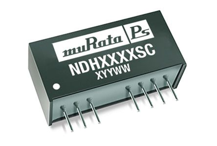 Murata Power Solutions NDH 3W Isolated DC-DC Converter Through Hole, Voltage in 18 → 36 V dc, Voltage out ±15V dc