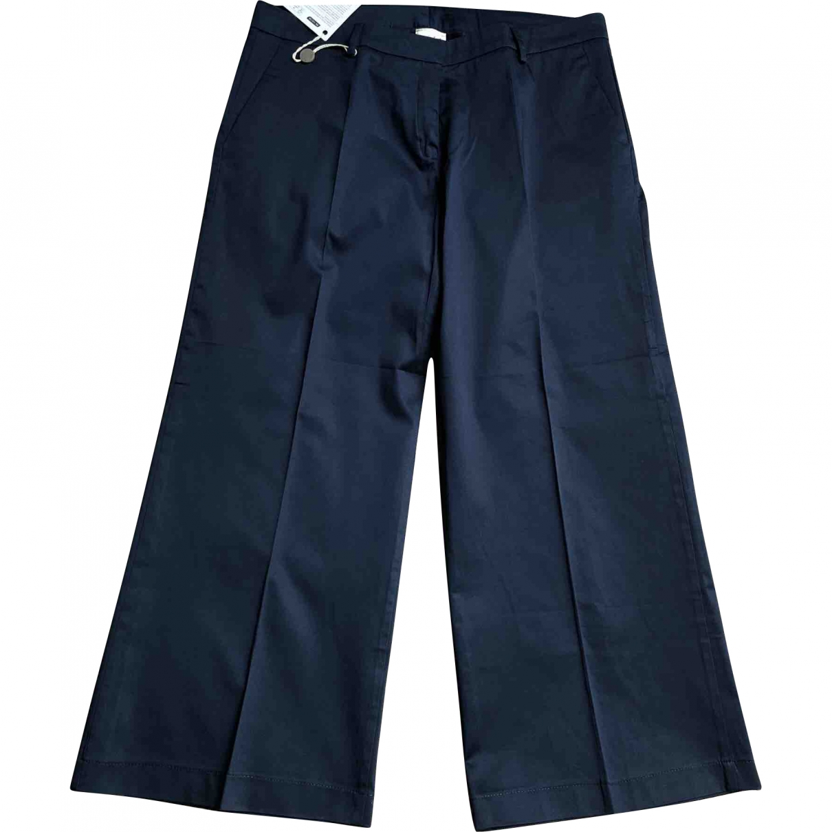 Non Signé / Unsigned \N Blue Cotton Trousers for Women 46 IT
