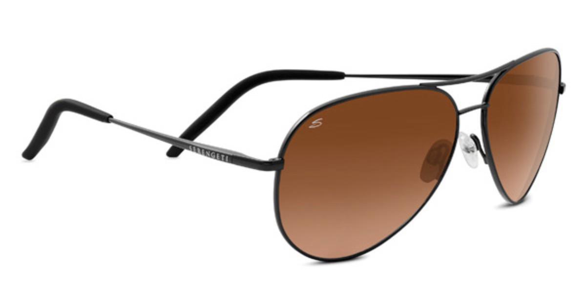 Serengeti Carrara Polarized 8453 Men's Sunglasses Black Size 59
