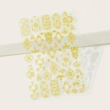 1 Blatt Nagelaufkleber mit Blumen Muster