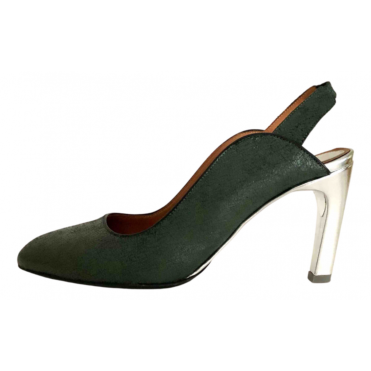 Dries Van Noten N Green Leather Sandals for Women 40 EU