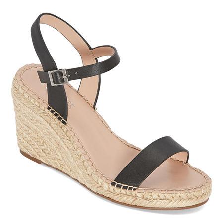 Style Charles Womens Neil Wedge Sandals, 9 Medium, Black