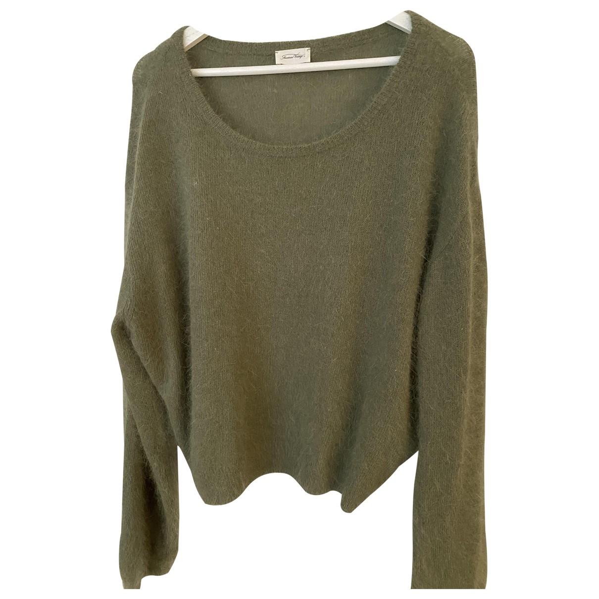 American Vintage - Pull   pour femme - vert