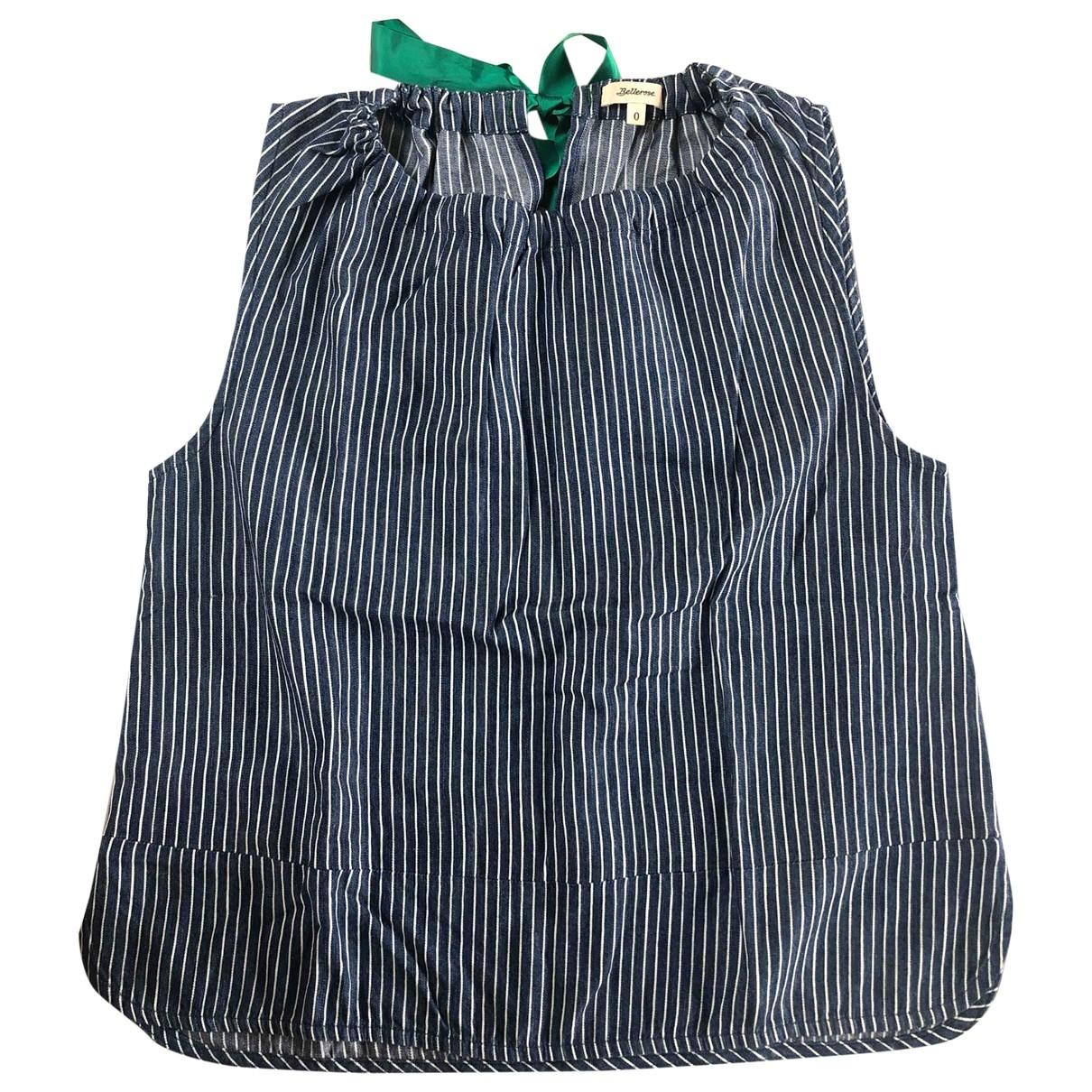 Bellerose - Top   pour femme en coton - bleu
