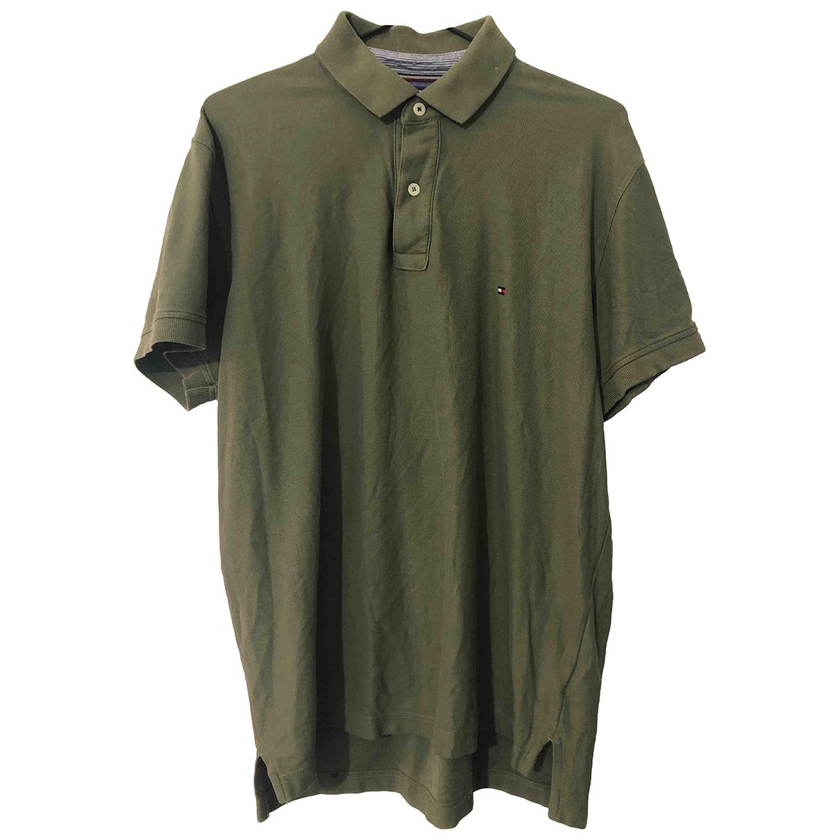Tommy Hilfiger - Polos   pour homme en coton - vert