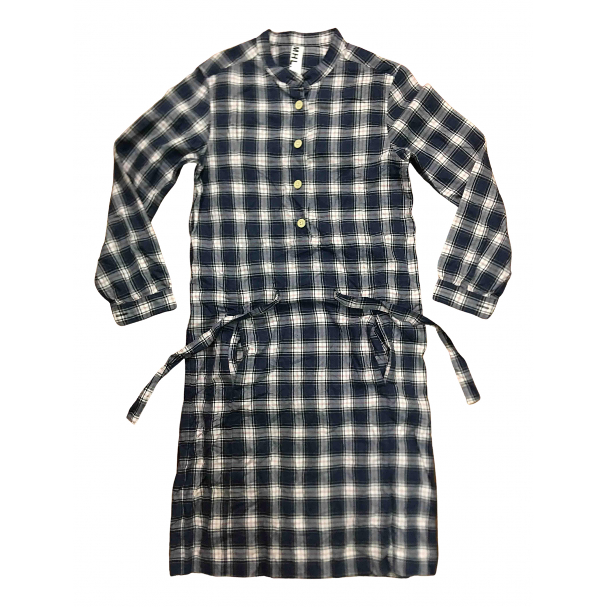 Margaret Howell \N Kleid in  Marine Baumwolle