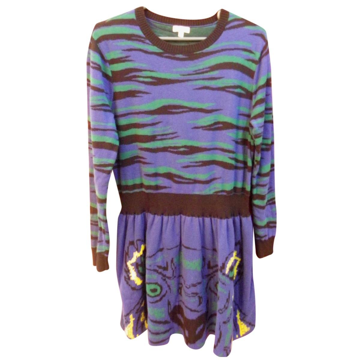 Kenzo \N Kleid in  Blau Baumwolle